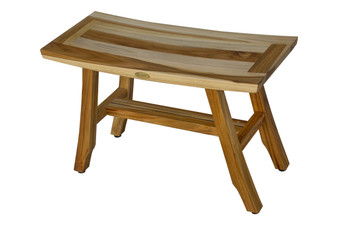 Brilliant Ecodecors Earthyteak Satori 28 Inch Teak Shower Bench With Uwap Interior Chair Design Uwaporg