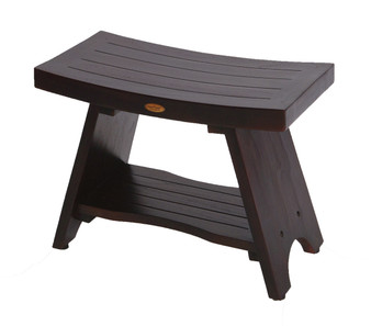 Awe Inspiring Eleganto 30 Inch Teak Shower Bench With Shelf Caraccident5 Cool Chair Designs And Ideas Caraccident5Info