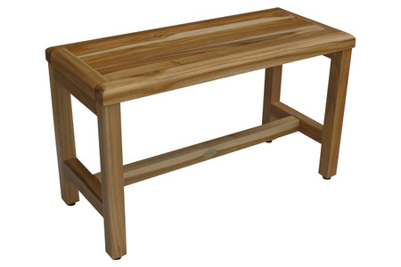 Teak Bathroom Bench | Earthyteak Eleganto 29 Inch Indoor Outdoor Teak Shower Bench