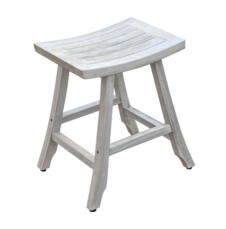 Magnificent Satori Indoor Outdoor Teak Bistro Stool 24 Inch Height Forskolin Free Trial Chair Design Images Forskolin Free Trialorg
