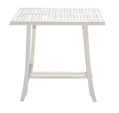 "CoastalVogue Satori 35"" x 23.5"" x 40"" Teak Wood Table in Coastal Driftwood Finish"