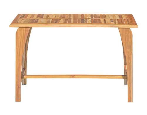 "EcoDecors Tranquility 47.25"" x ""27.5"" x ""30"" Teak Wood Table in EarthyTeak Finish"