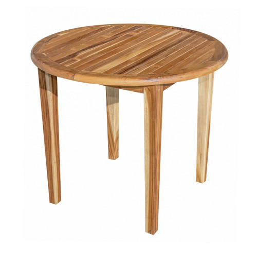 "EcoDecors Oasis 36"" Teak Wood Round Table in EarthyTeak Finish"