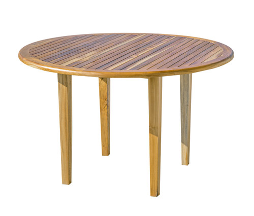 "EcoDecors Oasis 48"" Teak Wood Round Table in EarthyTeak Finish"