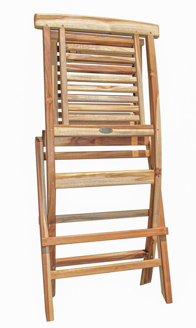 EcoDecors Teak Wood Fully Assembled Folding Chair in EarthyTeak Finish