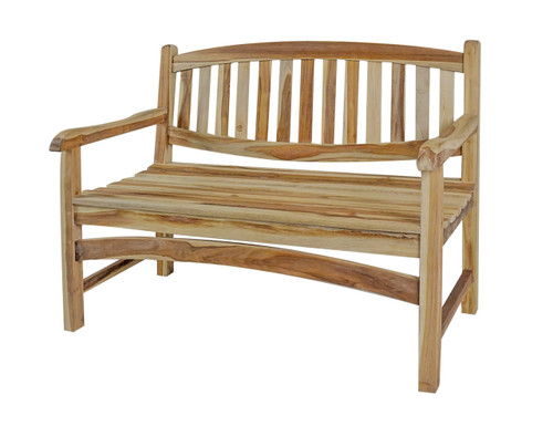 "EcoDecors Kent Garden 47"" Teak Wood Outdoor Bench in EarthyTeak Finish"