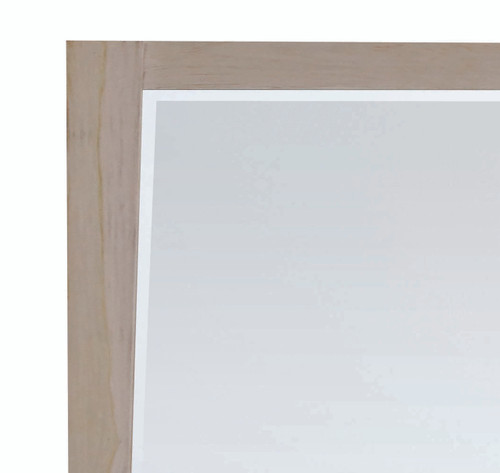 "CoastalVogue Significado 36"" x 35"" Teak Wood Fully Assembled Wall Mirror in Coastal Driftwood Finish"