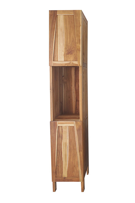 """EcoDecors Significado 79"""" Teak Wood Fully Assembled Free Standing Linen Tower in EarthyTeak Finish"""