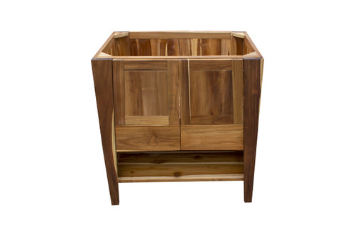 "EcoDecors Significado 30"" Teak Wood Fully Assembled Free Standing Bathroom Vanity in EarthyTeak Finish"