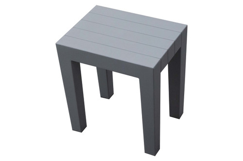 """Design By Intent 15"""" Polypropylene Plastic Shower Bench in Gray"""