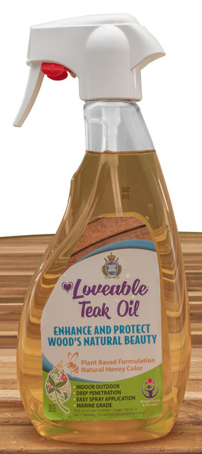 Loveable Teak and Wood Protective Oil in 16 oz. Spray Bottle