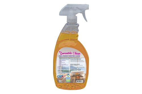 Loveable Clean EPA Safer Choice Teak and Bamboo Furniture Cleaner in 32 oz. Spray Bottle