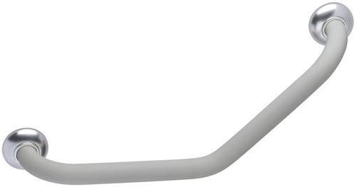 "135¡ Angled 23.86"" Symmetrical Innovato Gray Soft Touch Grab Bar"