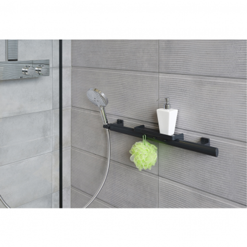 store your essentials on multi-functional bathroom grab bar