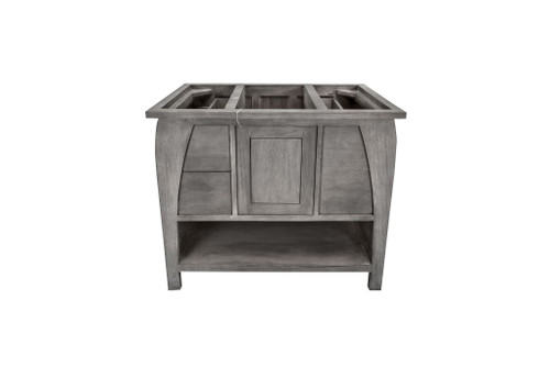 CoastalVogue Tranquility 36in Wide Vanity TR-BT-36-GR in a Gray Finish