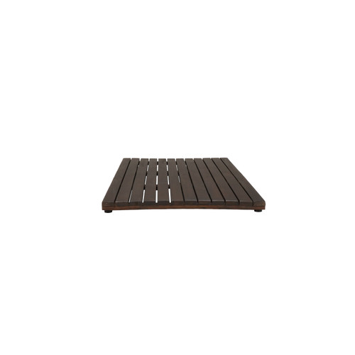 DecoTeak Eleganto 40in Wide FloorMat DT135 in a Dark Brown Finish