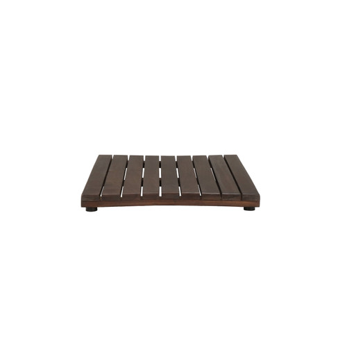 DecoTeak Eleganto 23in Wide FloorMat DT133 in a Dark Brown Finish