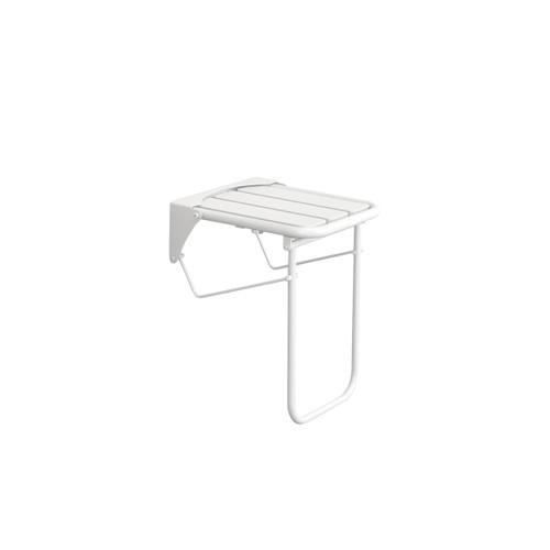 Fold Away ADA Compliant White Stainless Steel Folding Shower Seat