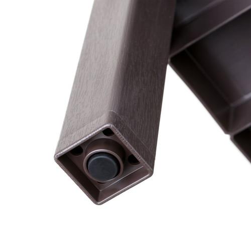 Tatay Plasticality 29in Tall ShowerShelf TT1706 in a Brown Finish