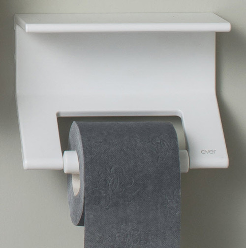 Duality™ White Hybrid™ Toilet Roll Holder with Shelf
