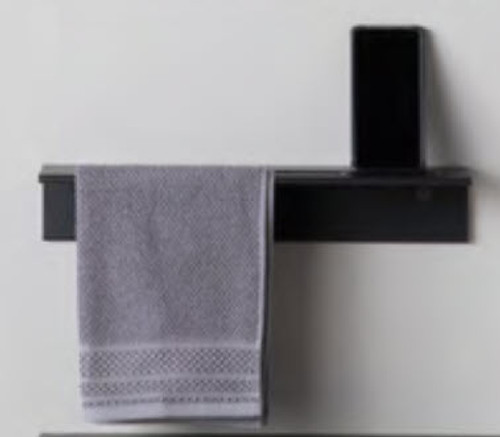 Duality™ Back Slim Line Hybrid™ Floating Shelf With Towel Holder & Grab Bar