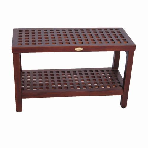 "teak lattice shower bench 30"" DT158"