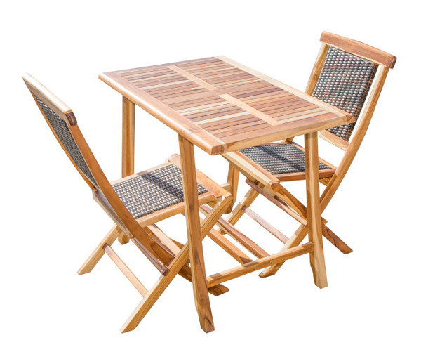 EcoDecors Satori™ Indoor Outdoor Teak Dining Table - 35 inch Length