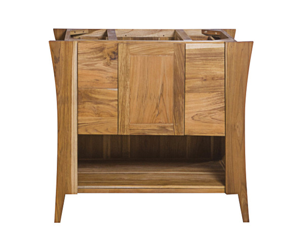 EcoDecors Curvature 36 in Teak Vanity in Natural Teak