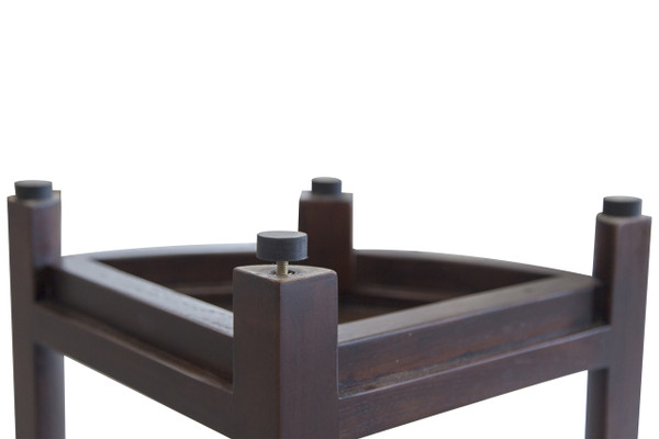 DecoTeak Oasis™ 2-Tier Teak Corner Shower Shaving Foot Stool and Shelf