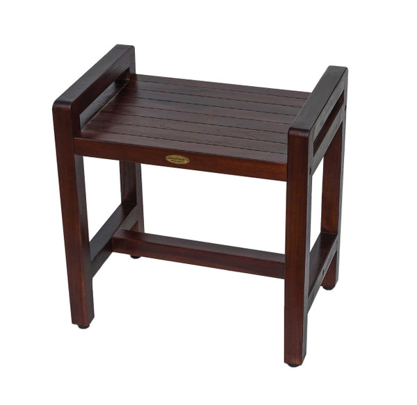 Eleganto™ 18 inch Teak Shower Stool with LiftAide Arms