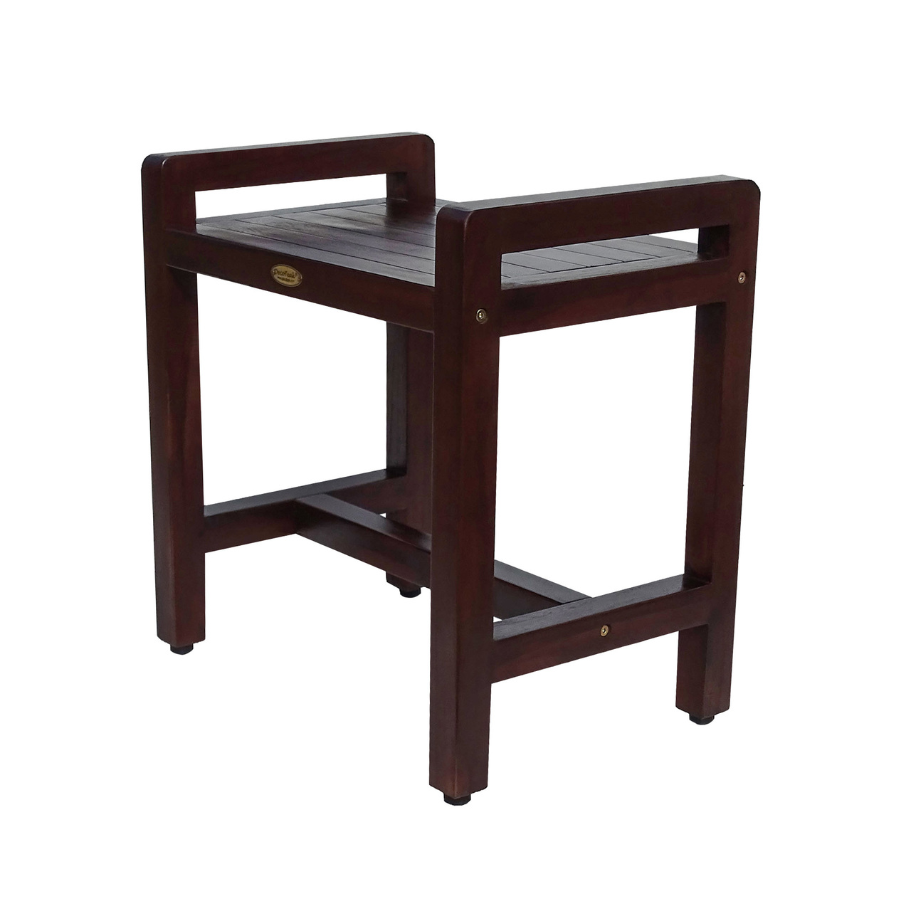 Super Eleganto 18 Inch Teak Shower Stool With Liftaide Arms Camellatalisay Diy Chair Ideas Camellatalisaycom