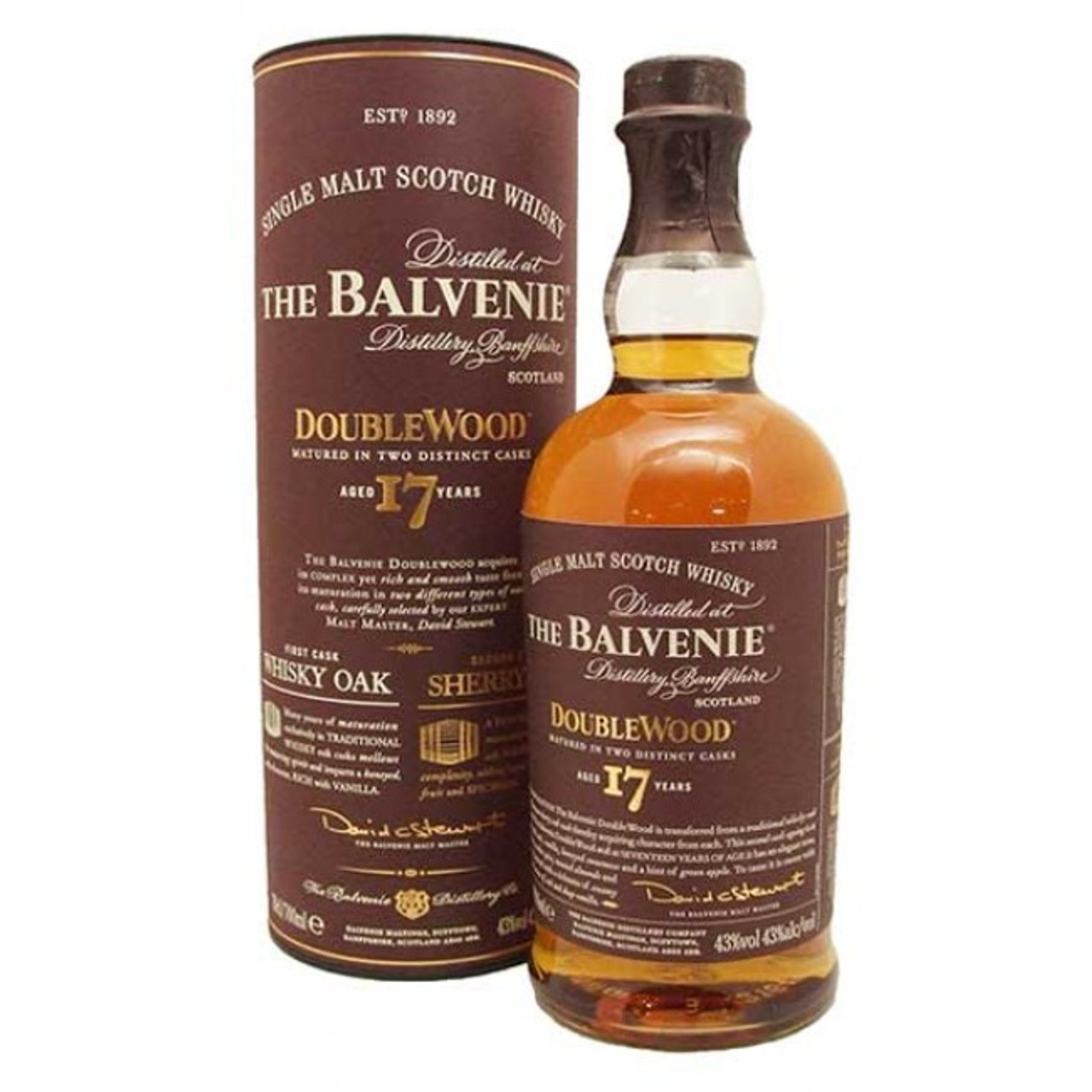 Balvenie 17 Year Doublewood Single Malt Scotch Whisky 750ml