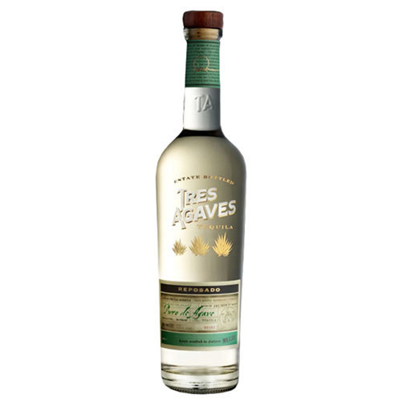100% de Agave. Estate Grown. Aged for ~9 months in repurposed Bourbon and Tennessee Whiskey barrels. Balanced taste of baked tropical fruits, with hints of citrus, spice, and complementary barrel notes. Ideally balanced and perfect for sipping or mixing.