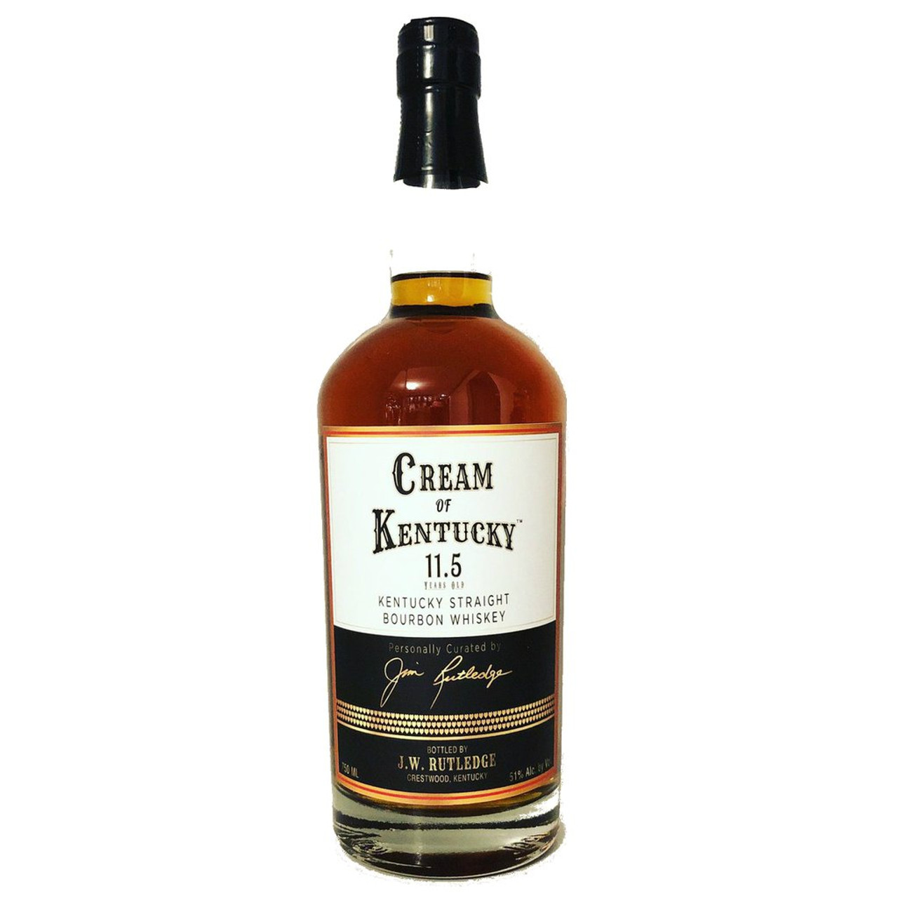 Cream of Kentucky Bourbon Whiskey 11.5 Years Old is the first release from J.W. Rutledge Distillery, founded by former Four Roses master distiller Jim Rutledge.