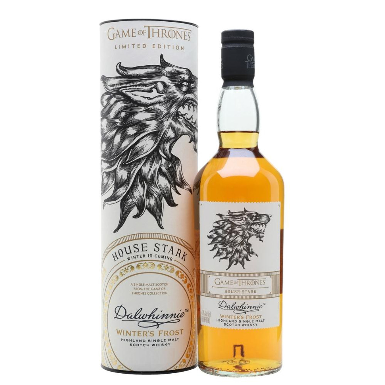 A non-age-statement single malt from the Highlands, representing House Stark and featuring a fearsome direwolf on the label. Diageo explains that this whisky from Dalwhinnie, located at one of the highest and coldest distillery sites in Scotland, is shaped by extreme conditions, just as the Starks' qualities of resilience and strength are shaped by their home of Winterfell in the North.