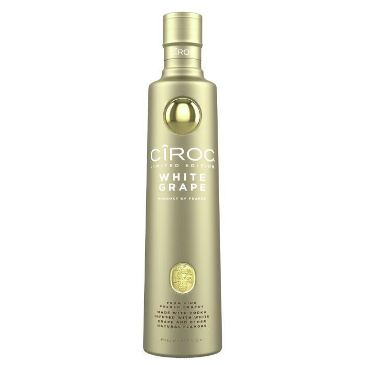 Ciroc White Grape is a rich tasting spirit made with vodka five times distilled from fine French grapes, finished in a tailor-made copper pot still in Southern France. This vodka is masterfully infused with a distinctive blend of white grape and other natural flavors, resulting in a taste experience that is lusciously different and elegantly smooth.