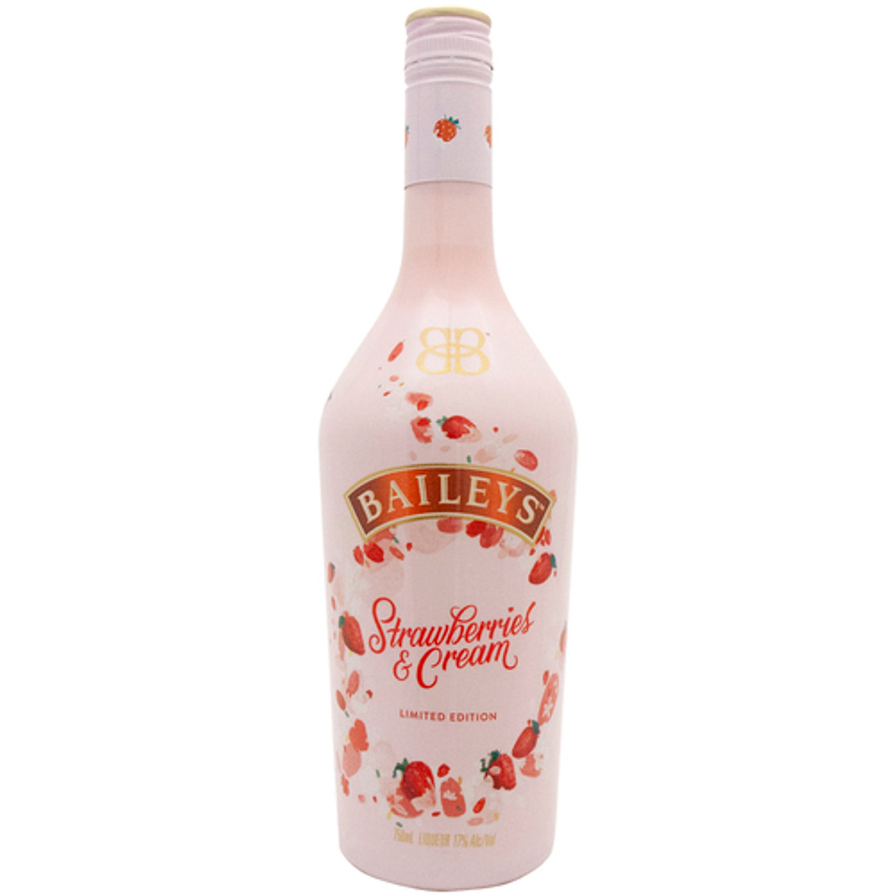 Treat yourself to the luxurious taste of berries and cream with the limited edition Baileys Strawberries & Cream Liqueur. By blending fresh, juicy strawberries with pure Irish dairy cream and the unique Baileys spirit, Strawberries & Cream is perfect for a sweet dessert or in a mixed drink after dinner.