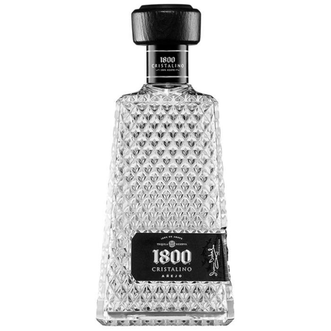 "In celebration of the year in which real tequila was born, 1800 tequila introduces a beautiful new Cristalino ""Cleared aged"" tequila. 1800 Cristalino starts with premium Anejo made from 100% blue agave harvested and handpicked from their highland ranches in Jalisco, Western Mexico."