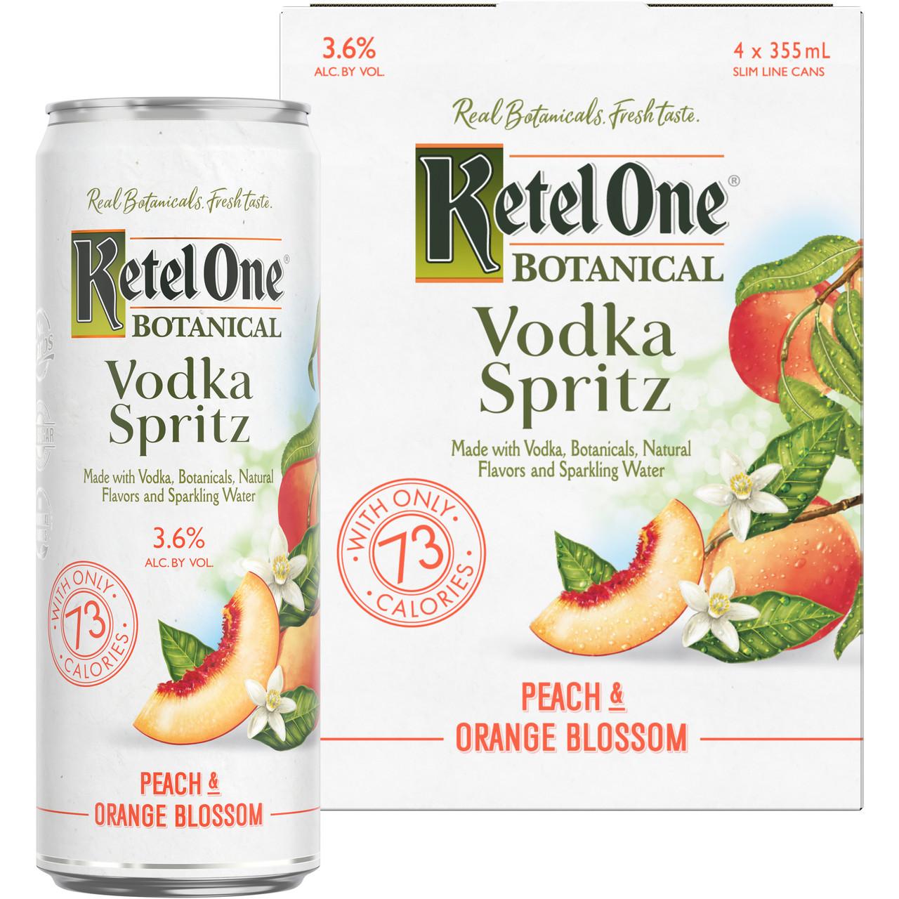 Ketel One Botanical Peach & Orange Blossom Vodka Spritz - 4pk 355ml Cans
