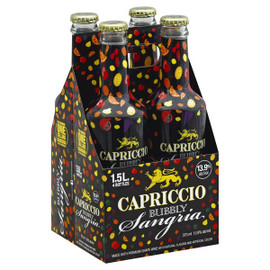 Capriccio is bubbly red wine blended with 100% natural fruit juices with hints of pineapple and pomegranate.The 13.9% ABV compliments the pineapple, orange, and grape juices to create a refreshing, fruit forward, well balanced.