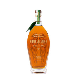 Angel's Envy spends up to 18 months finishing in Caribbean rum casks, resulting in an immensely complex whiskey. The mingling of raw, spicy and earthy rye with the mellow sweetness of rum finishing creates an incomparably smooth and drinkable whiskey, even at 100 proof.