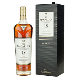 Outstanding, complex Single Malt, matured at The Macallan distillery for a minimum of 18 years in selected Sherry oak casks from Spain. Rich palate of dried fruits, spice, orange and wood smoke. Full-bodied, lingering, smooth, elegant and aromatic finish.
