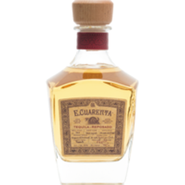 E. Cuarenta Tequila Reposado is 100% Blue Agave, Stone Oven Cooked 48-60 Hours, Complex aromas of Cooked Agave, Vanillas, Caramel, Maple, and Spices. A long sweet ultra-smooth finish.