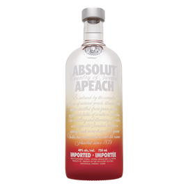 A complex taste of apricot and peach, the fruitiness of Absolut Apeach is balanced with a touch of tropical fruit flavor. With a fresh character that's rich and smooth, each sip is succulent and luscious.