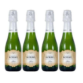 Korbel Sweet Cuvee 4 Pack Champagne 187ml