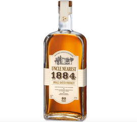 Uncle Nearest 1884 is the proud legacy of the best whiskey maker the world never knew, Tennessee distilling legend, Nearest Green. Each small batch has its barrels hand selected by our founders with each blend curated by descendants of Nearest Green. The signature of the descendant who curated each batch is embossed on the back.