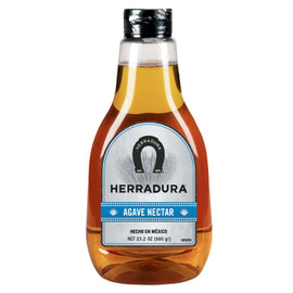 A natural sweetener that can be used as a replacement for simple syrup.The nectar is made by cooking and filtering the sap from the blue agave plant. Its taste is similar to honey but less viscous, so it can be used to sweeten cold drinks.