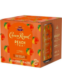 This ready-to-drink canned cocktail from Crown Royal is a delicious combination of Canadian Whisky, peach flavor, and brewed tea.