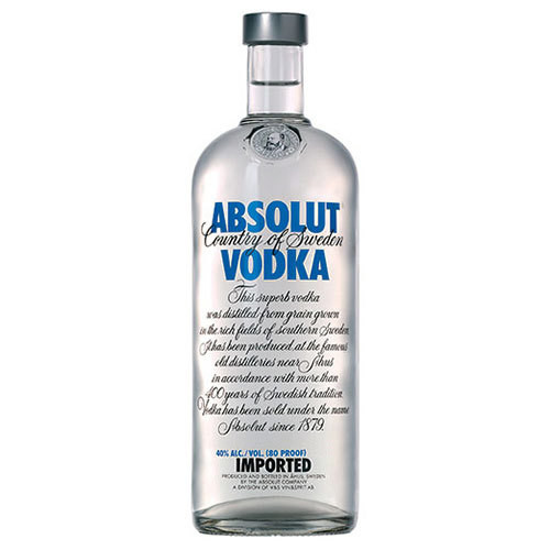 Absolut is a Swedish vodka made exclusively from natural ingredients, and doesn't contain any added sugar. In fact Absolut is as clean as vodka can be. Rich, full-bodied and complex, yet smooth and mellow with a distinct character of grain, followed by a hint of dried fruit.