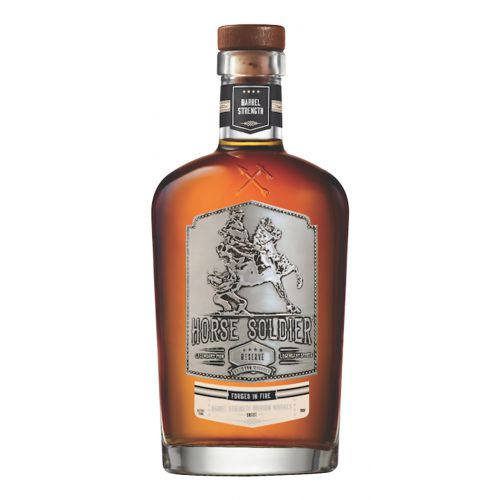 The Horse Soldier Barrel Strength Bourbon serves as the most recent addition to their line boasting more robust flavors than previous offerings. Distilled from a mashbill consisting of 70% yellow dent corn, 20% red winter wheat, 10% malted barley, the bourbon spent a total of 8 years in new, charred American oak casks before being bottled at a 113 proof in bottles cast using a mold made from salvaged steel from the World Trade Center.